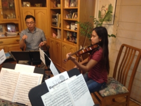 Leslie Ho coaching the Haydn