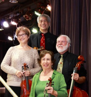 Mary Durgin and David Doo (violin), Marge Osborn (viola), Richard Mott (cello)