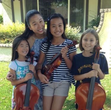 Judy Kang coached Sophia Slott, Elisabeth Chi, and Natalie Birn